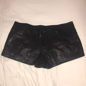 Free People Faux Leather Shorts